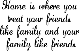 family like home wall decals trading phrases