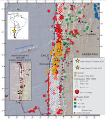 Earthquake Map Usgs Geo U0027s Chile Event Supersite Website