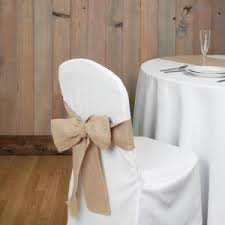 burlap chair covers white folding chair covers portia day pretty folding