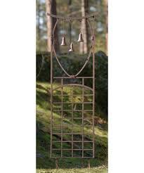 oriental 5 5 ft iron 3 bell trellis hayneedle