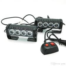 led strobe lights for motorcycles new 12v 2x4 led car motorcycle flash light aluminum alloy led strobe