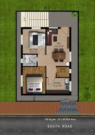 way2nirman 100 sq yds 25x36 ft south face house 2bhk elevation 2