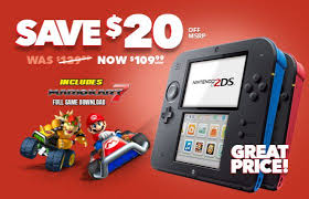 2ds black friday nintendo 2ds will soon have its price dropped in canada