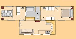 the big t 480 sq ft shipping container floor plan concept cozy the big t floor plan view