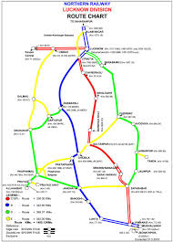 Banglore Metro Route Map by Route Chart Of Nr Lucknow Division Railways Faq Railway Enquiry