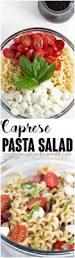 caprese pasta salad cookie dough and oven mitt