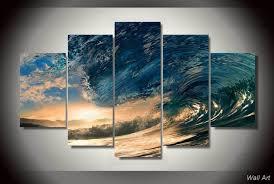chambre de d馗ompression hd imprimé tropical paradise mer peinture impression sur toile