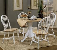 white kitchen set furniture dual tone country dining set with drop leaf pedestal table