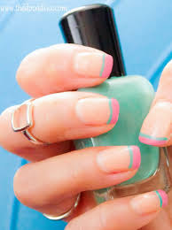 spring 2015 nail trend how to do two two toned french tip