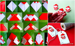 How To Make A Origami Santa - create extremely cheerful diy origami santa claus for your decor