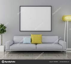 interieur et canapé cadre d image vide et canapé avec plante intérieur et le