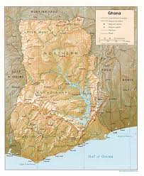 Picture Of Map Map Of Ghana Relief Map Worldofmaps Net Online Maps And