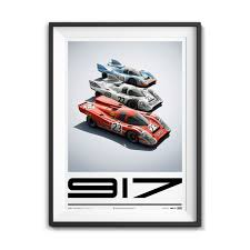 porsche 917 art porsche 917 style d poster unique u0026 limited touch of modern