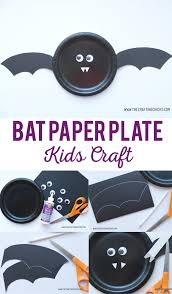 bat paper plate kids craft