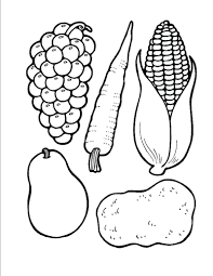 thanksgiving meal coloring pages healthy and unhealthy food