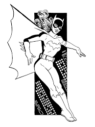batgirl coloring pages getcoloringpages