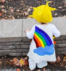 sunshine and rainbow halloween free costume pattern for babies