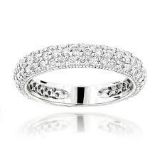 diamond wedding bands for women 1 carat diamond wedding band for women in 14k gold