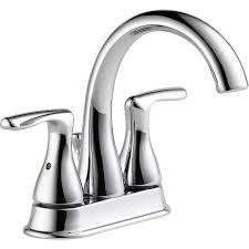 Peerless Bathroom Faucet by Shop Peerless Dulcet Chrome 2 Handle 4 In Centerset Bathroom