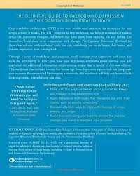 the cognitive behavioral workbook for depression a step by step