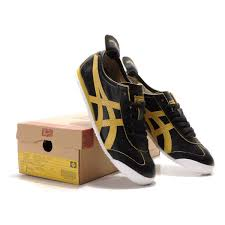 2014 asics onitsuka tiger mexico 66 lauta mens shoes black yellow