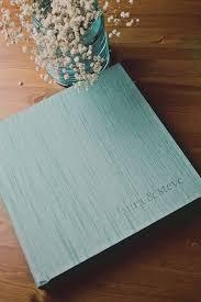 Cloth Photo Album Aqua Japanese Book Cloth Bottom Right Embossing Red Tree Albums