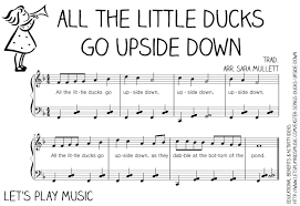 all the little ducks go upside down action song let u0027s play music
