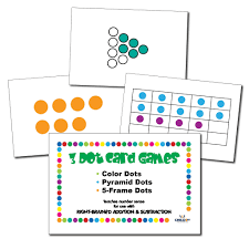 right brained addition u0026 subtraction dot cards child1st publications