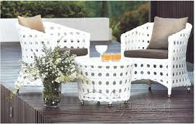 portside 5 piece wicker dining set white outdoor dining sets white