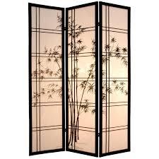 oriental furniture bamboo tree 84 inch shoji screen room divider