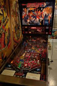 so i bought a pinball machine rollergames in the basement and