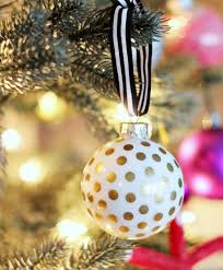 take the time to hang ornaments with ribbon craft