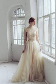 wedding dresses high lace wedding dress peitho tulle wedding gown chagne