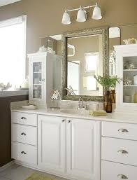 White Mirrors For Bathroom Gold Famed Square Beveled Mirror