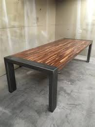 Handmade Dining Table Contemporary Minimalistic Design Steel And - Handcrafted dining room tables