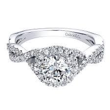 circle engagement ring 14k white gold 30cttw criss cross halo diamond mounting