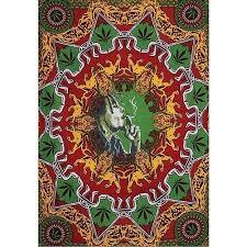 bob marley leaf fabric poster