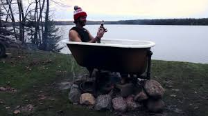 Wood Fired Bathtub The Wisconsin Tub Youtube