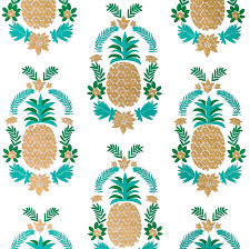 pineapple wrapping paper white floral pineapple gift wrap designer wrapping paper