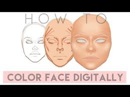 how to color face digitally for beginners sketchbook pro