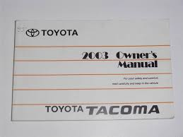 2006 toyota sequoia owners manual 2003 toyota tacoma owners manual book owners manuals