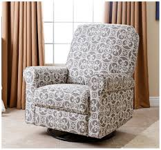 Swivel Recliner Chairs For Living Room Amazon Com Abbyson Living Sydney Fabric Swivel Glider Recliner