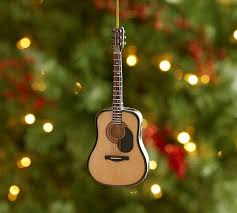acoustic guitar ornament pottery barn