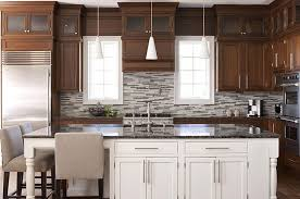 Two Color Kitchen Cabinets 25 Best Collection Of Two Tone Painted Kitchen Cabinets
