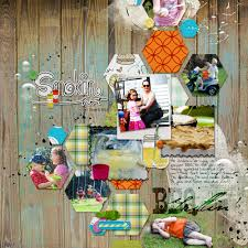 scrapbooking with the color blue