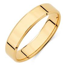 mens yellow gold wedding bands men s wedding band in 10kt yellow gold