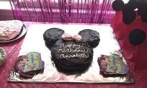 easy minnie mouse birthday cake u0026 thrifty party ideas