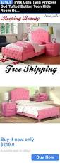 Girls Twin Princess Bed by Kids At Home Pink Girls Twin Princess Bed Tufted Button Teen Kids