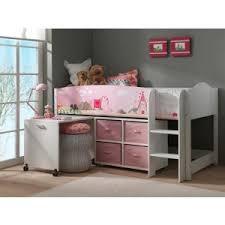 lit surélevé avec bureau swithome lit mezzanine princesse lollipop avec un bureau et une