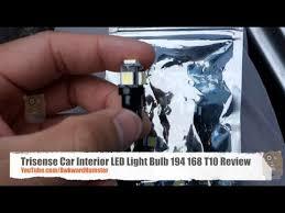 trisense car interior led light bulb 194 168 t10 review youtube